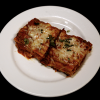 Cheesy Beef Lasagna with marinara